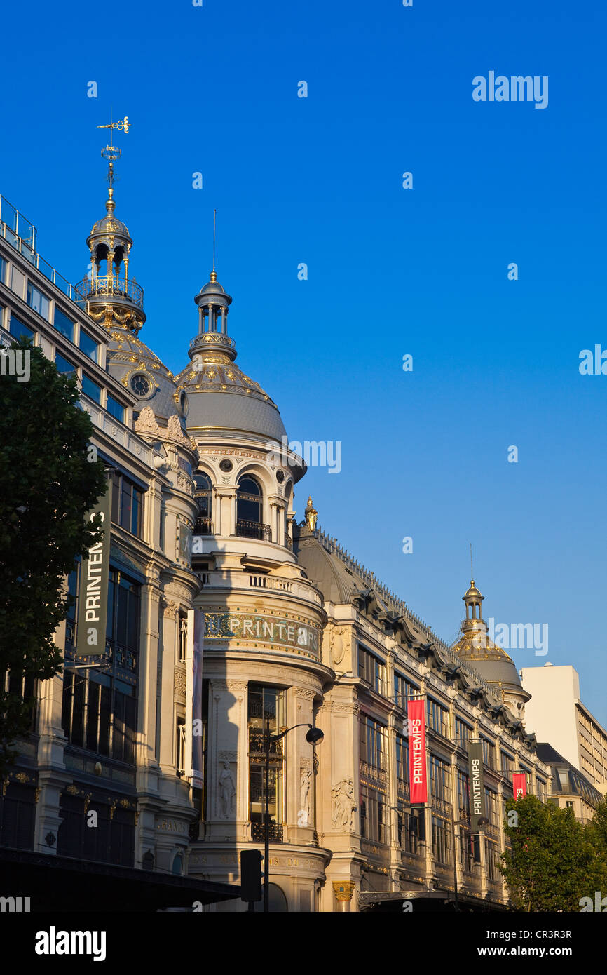 France, Paris, the department store Le Printemps (renovated in 2009) - Stock Image
