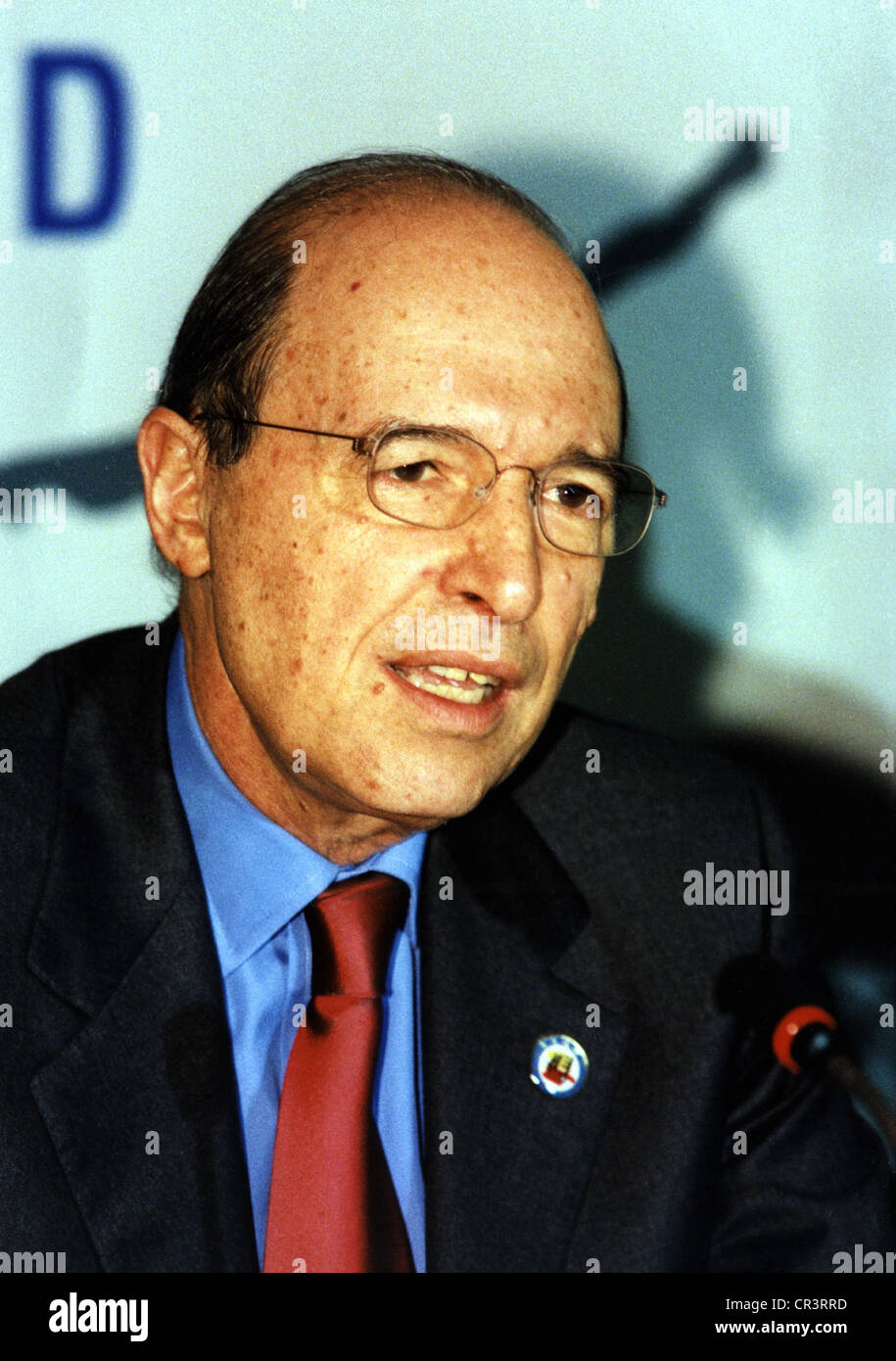 Simitis, Konstantinos, 23.6.1936, Greek politician, portrait, 1999, Additional-Rights-Clearances-NA - Stock Image