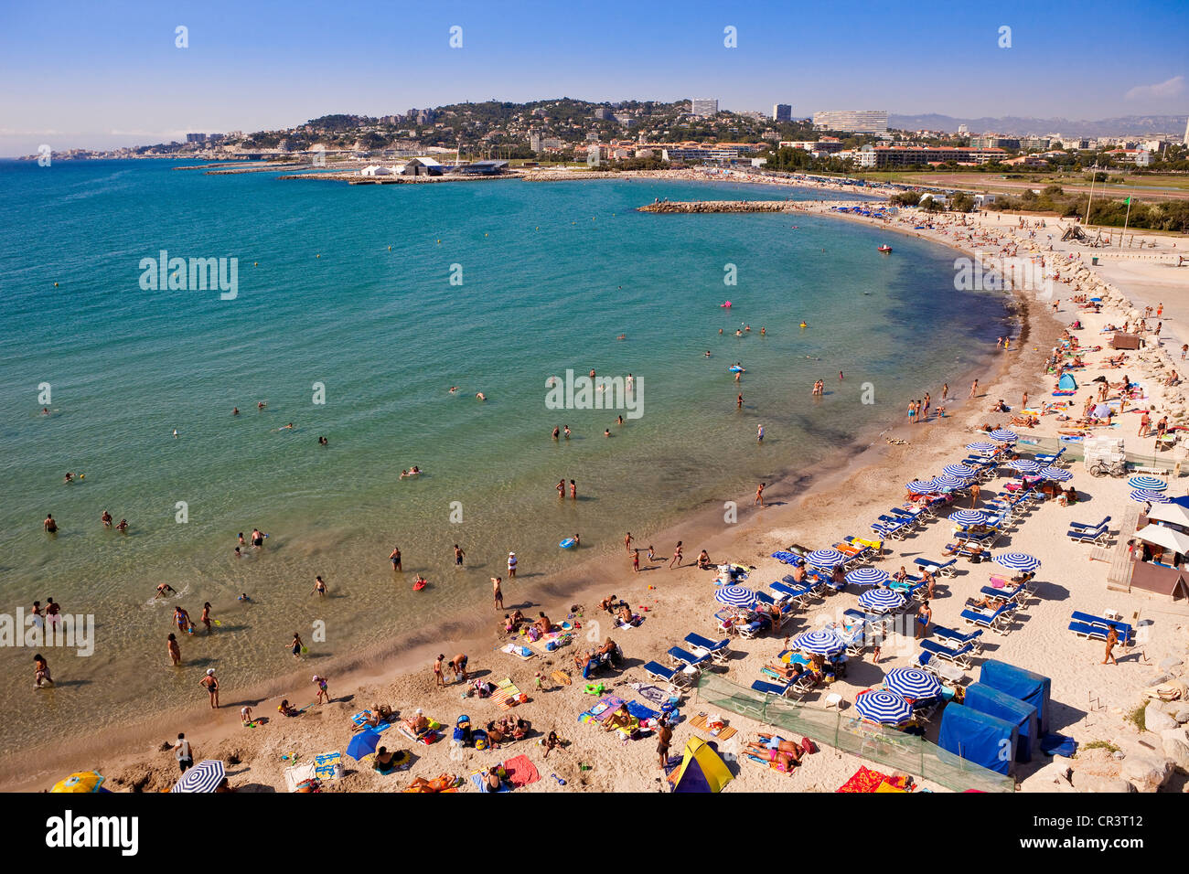 Prado Beach Marseille Stock Photos Prado Beach Marseille Stock
