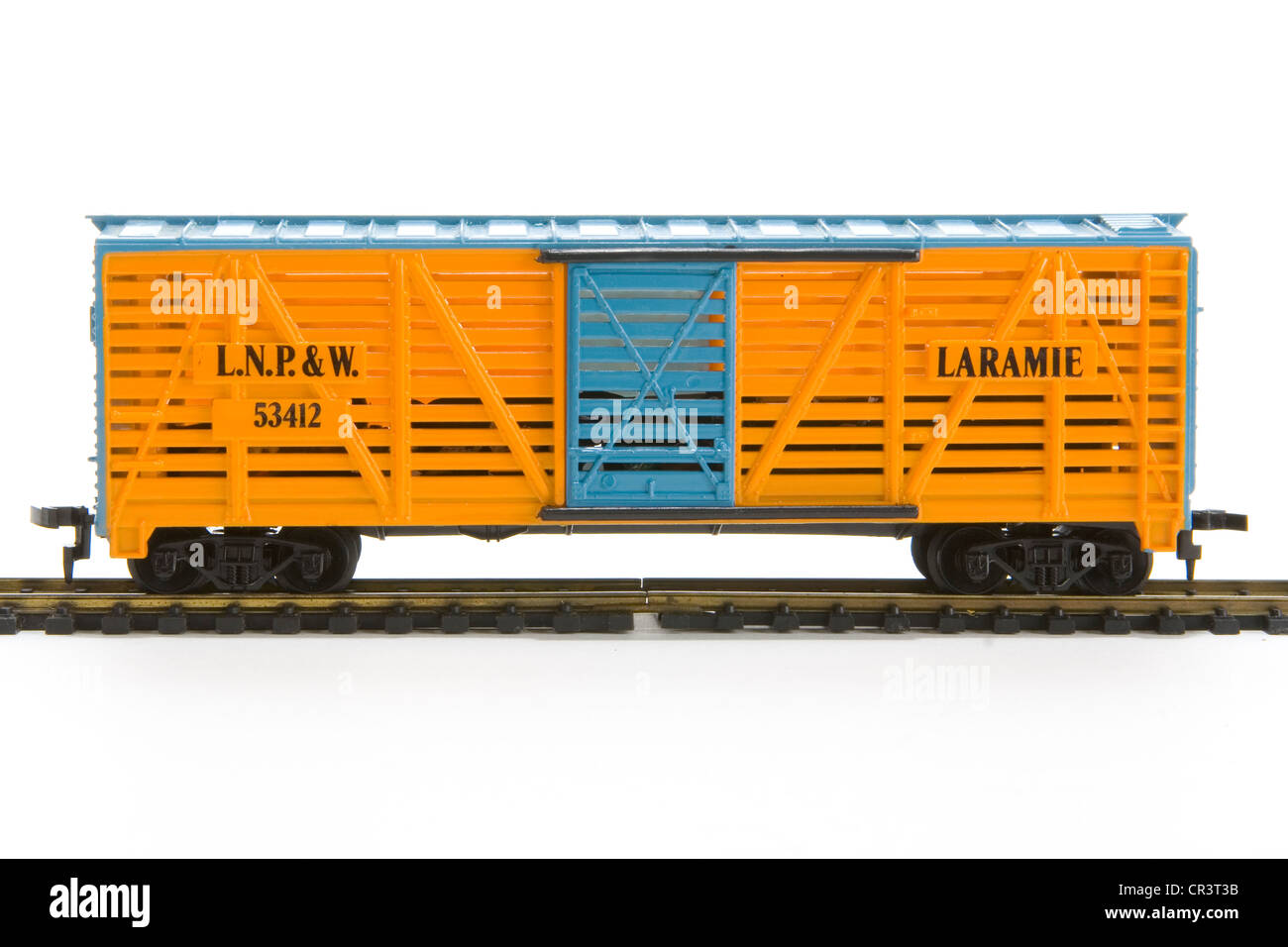 HO scale model train car - Stock Image