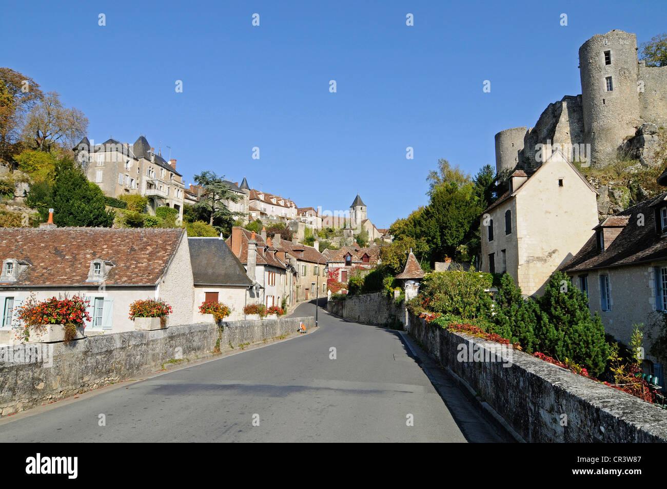 Angles sur l'Anglin, village, community, Poitiers, Vienne, Poitou-Charentes, France, Europe, PublicGround - Stock Image