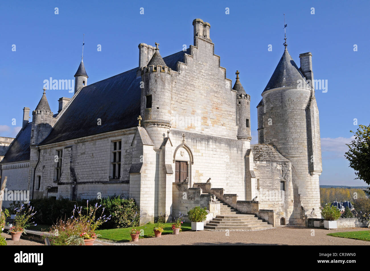 Logis Royal Castle, residence, Castle Hill, Tours, Indre-et-Loire, Centre region, France, Europe - Stock Image