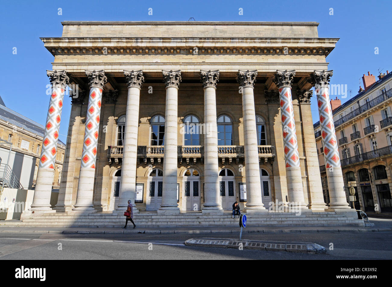 Theatre, Dijon, Cote-d'Or, Bourgogne, Burgundy, France, Europe, PublicGround - Stock Image