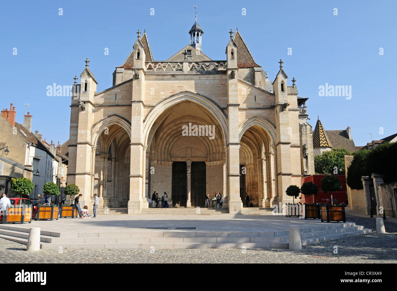 Collegiale Notre-Dame, collegiate church, Beaune, Department of Cote-d'Or, Burgundy, France, Europe, PublicGround - Stock Image