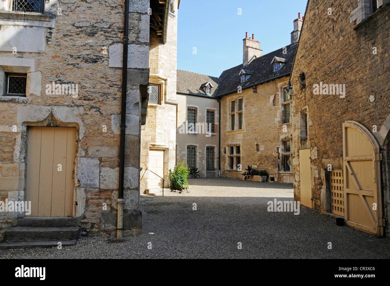 Hotel des Ducs de Bourgogne, wine museum, Beaune, Department Cote-d'Or, Burgundy, France, Europe - Stock Image