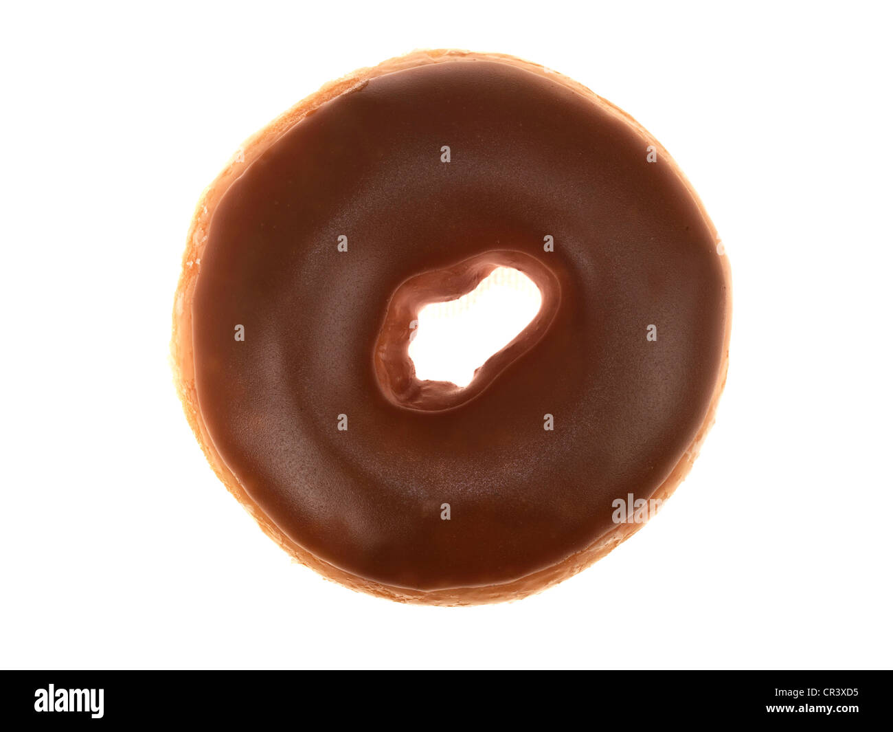 Maple Iced Ring Donut - Stock Image