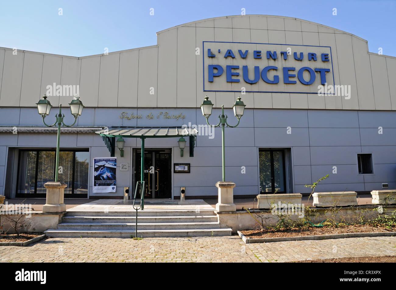 Peugeot Museum in Sochaux, Belfort, departement of Doubs, Franche-Comte, France, Europe, PublicGround - Stock Image