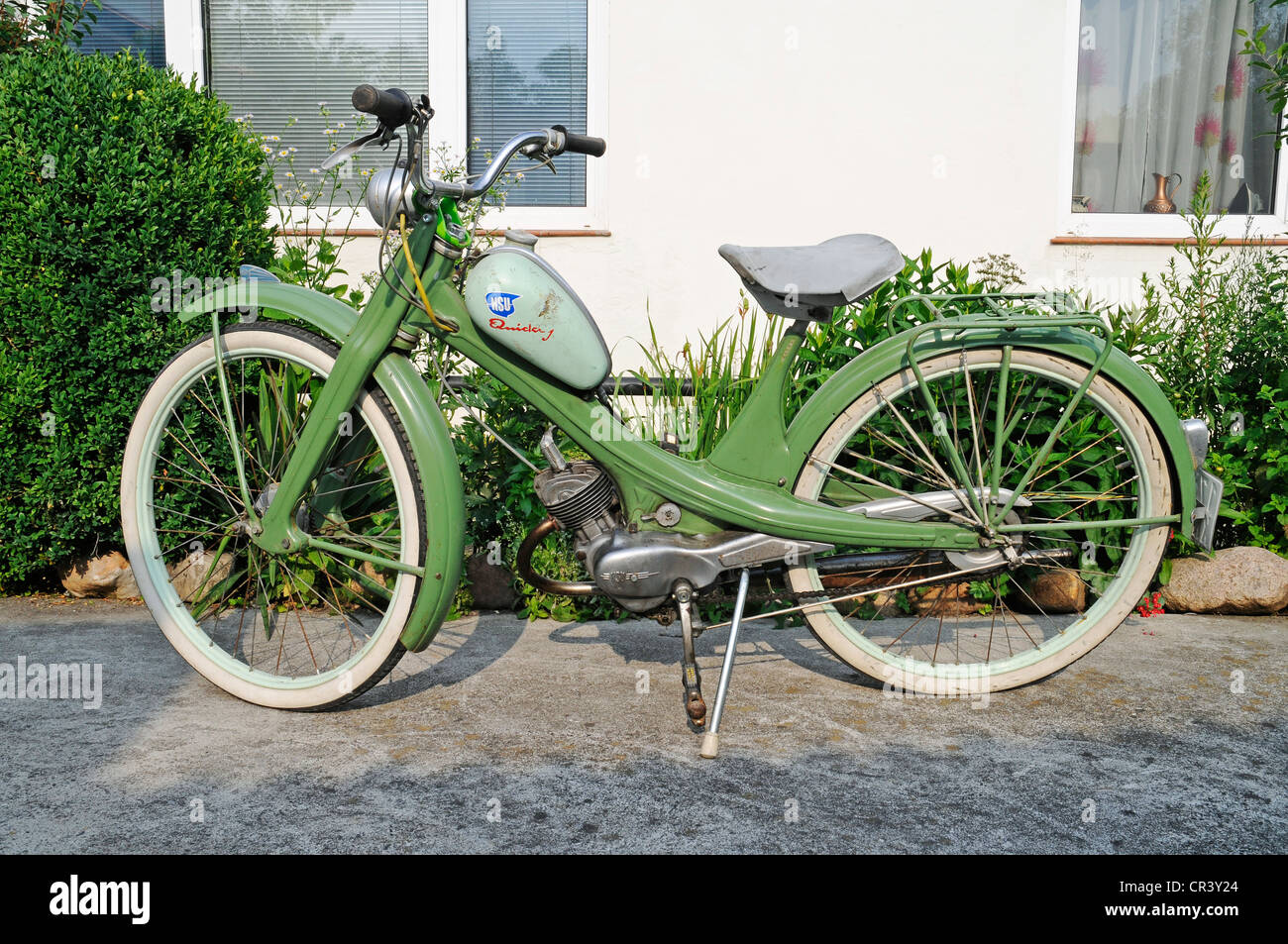 NSU Quickly moped, historic motor-assisted pedal cycle