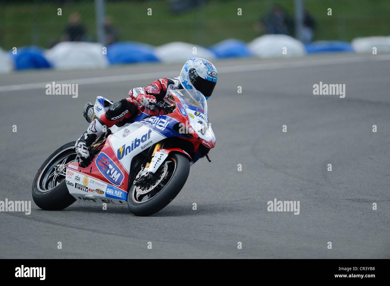 carlos checa on the ducati, WSBK 2012 Stock Photo