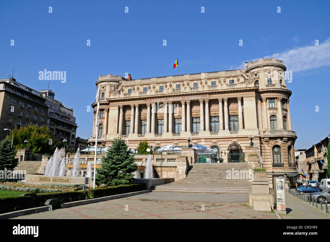 Cercul Militar National, officers' mess, military building, restaurant, museum, Bucharest, Romania, Eastern - Stock Image