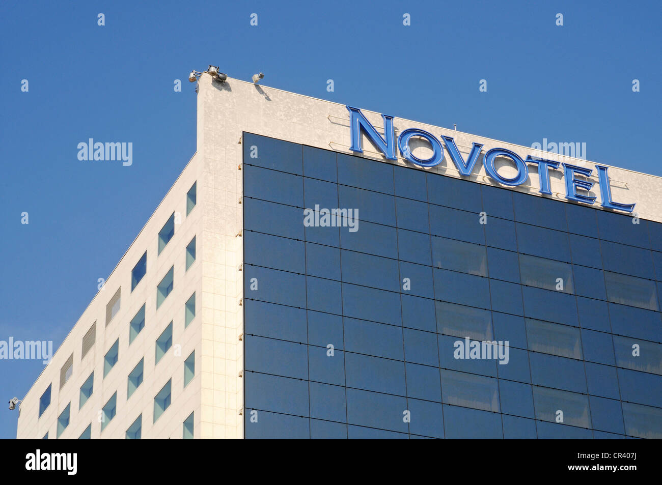 Novotel Hotel, multistorey building, Bucharest, Romania, Eastern Europe, Europe, PublicGround - Stock Image