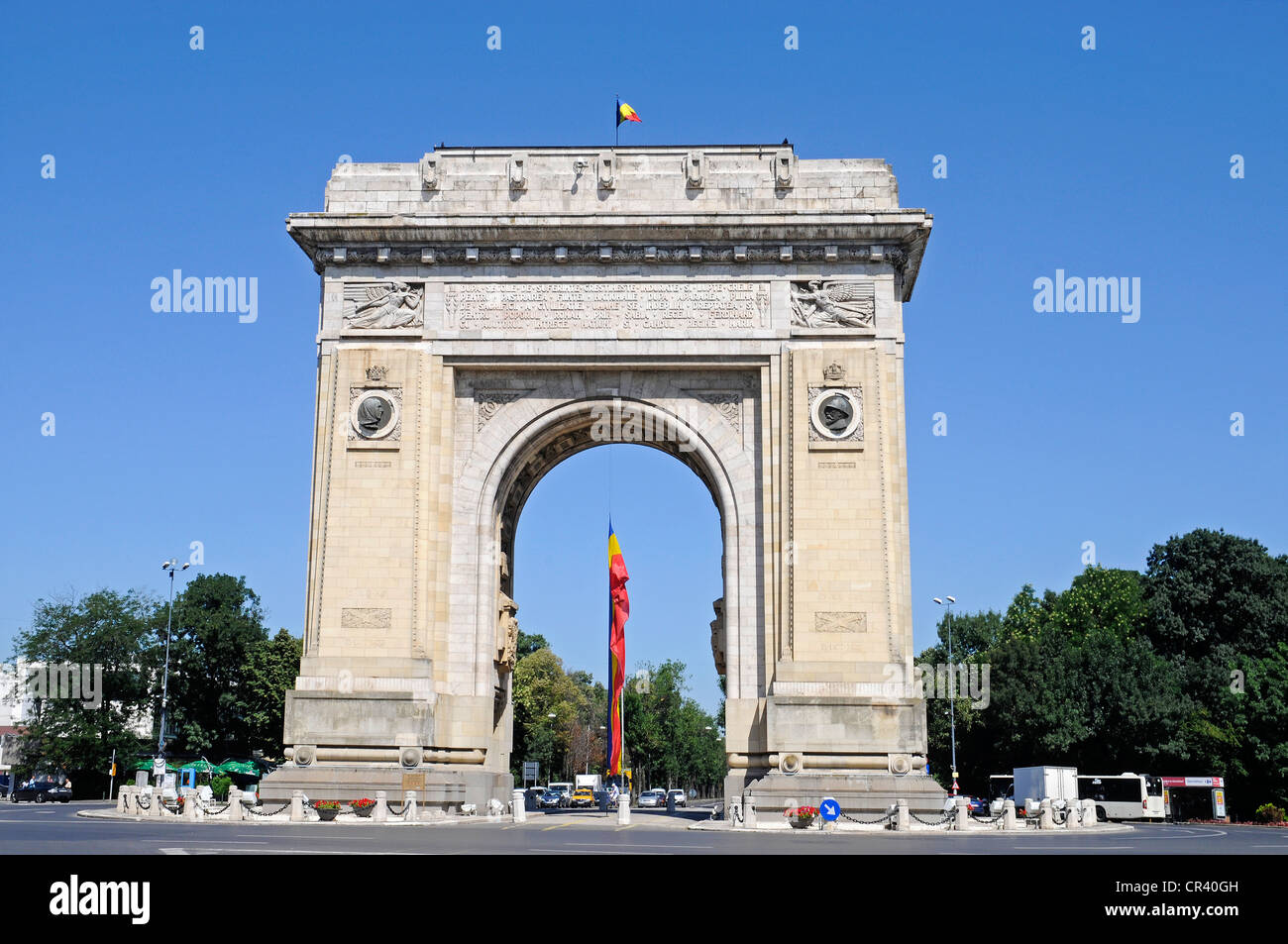 Triumphal Arch, Bucharest, Romania, Eastern Europe, Europe, PublicGround Stock Photo