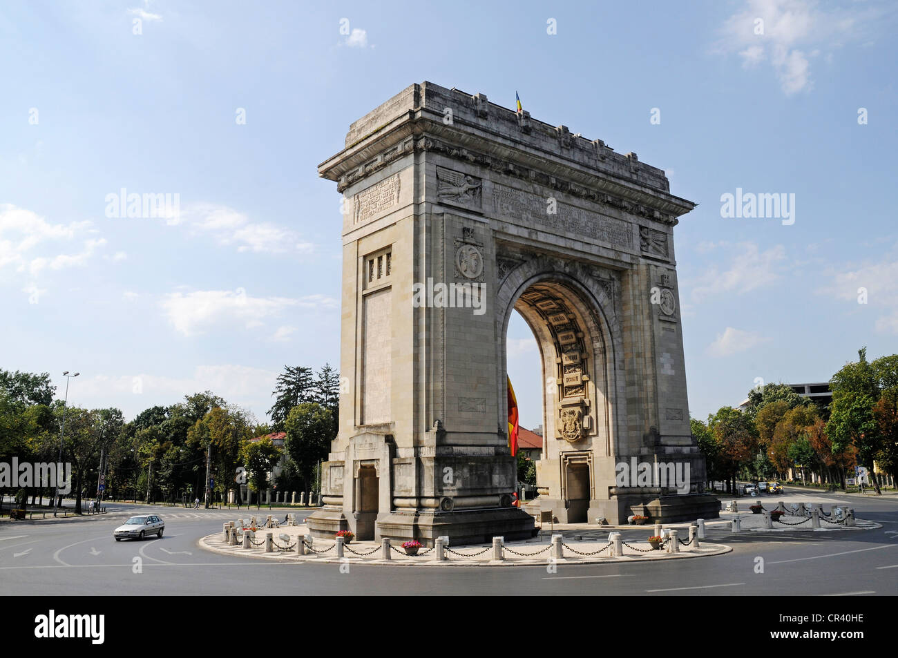 Triumphal Arch, Bucharest, Romania, Eastern Europe, Europe, PublicGround - Stock Image