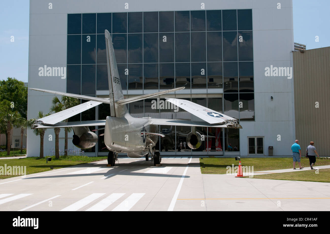 A Douglas TA-3D outside the Naval Aviation Museum in Pensacola Florida USA - Stock Image