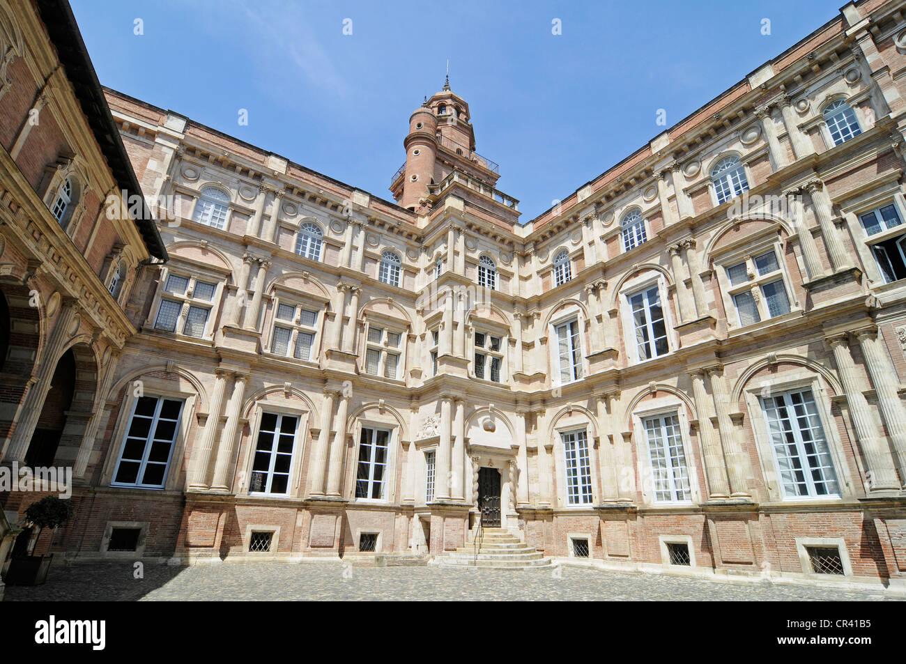 Hotel d'Assezat mansion, home of the Academie des Jeux floraux, Foundation Bemberg, art collection, Toulouse - Stock Image