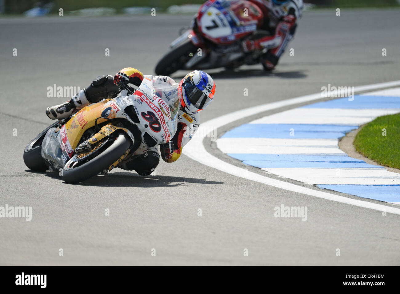 sylvan guintoli on the ducati, WSBK 2012 - Stock Image
