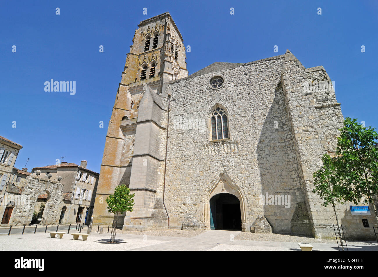 Cathedral, Via Podiensis or Chemin de St-Jacques or French Way of St. James, UNESCO World Heritage Site, Lectoure - Stock Image