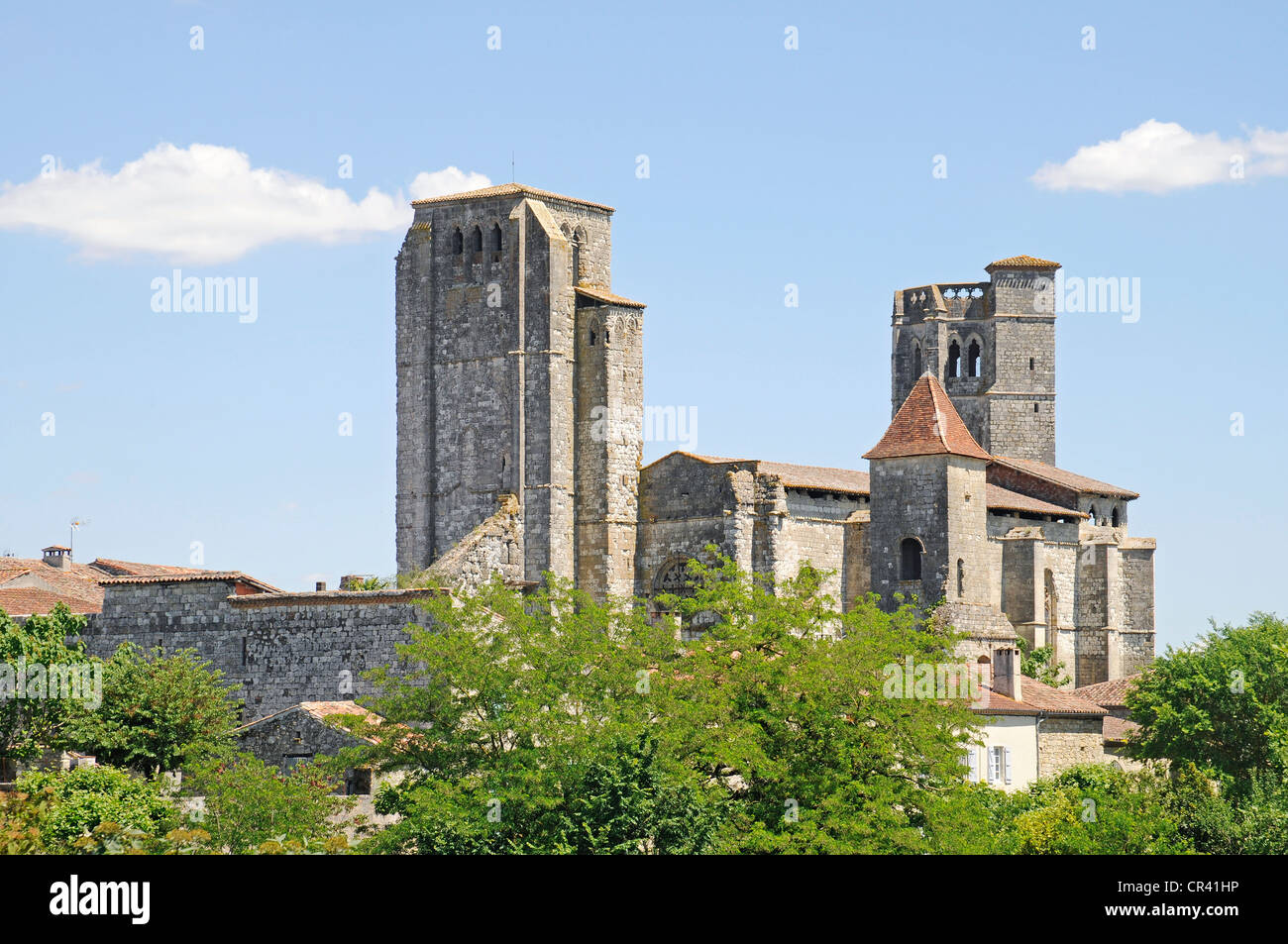 St. Peter's Collegiate Church, Via Podiensis or Chemin de St-Jacques or French Way of St. James, UNESCO World - Stock Image