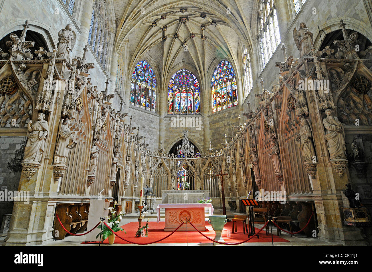 Cathedral of Saint Pierre or Condom Cathedral, Via Podiensis or Chemin de St-Jacques or French Way of St. James - Stock Image