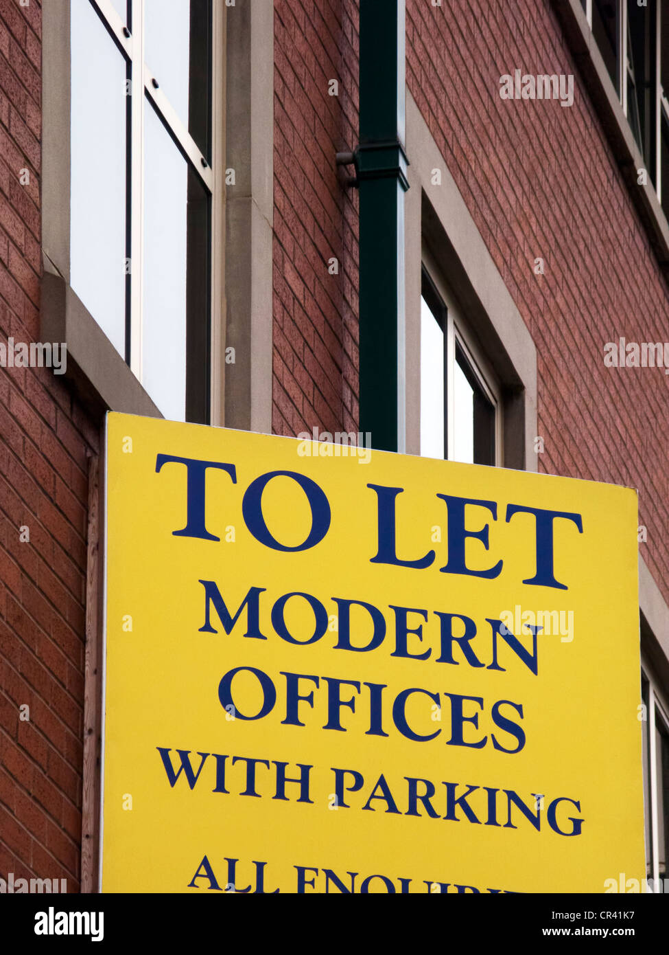 Offices to let sign - Stock Image