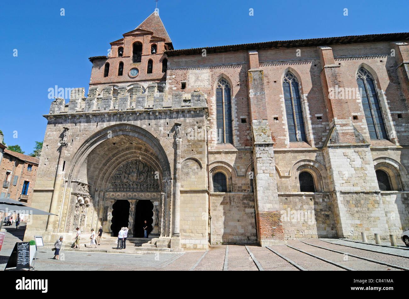 Abbaye Saint-Pierre de Moissac abbey church, Via Podiensis or Chemin de St-Jacques or French Way of St. James - Stock Image