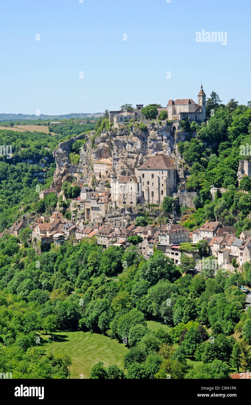 Basilica of Saint-Sauveur, Via Podiensis or Chemin de St-Jacques or French Way of St. James, UNESCO World Heritage - Stock Image