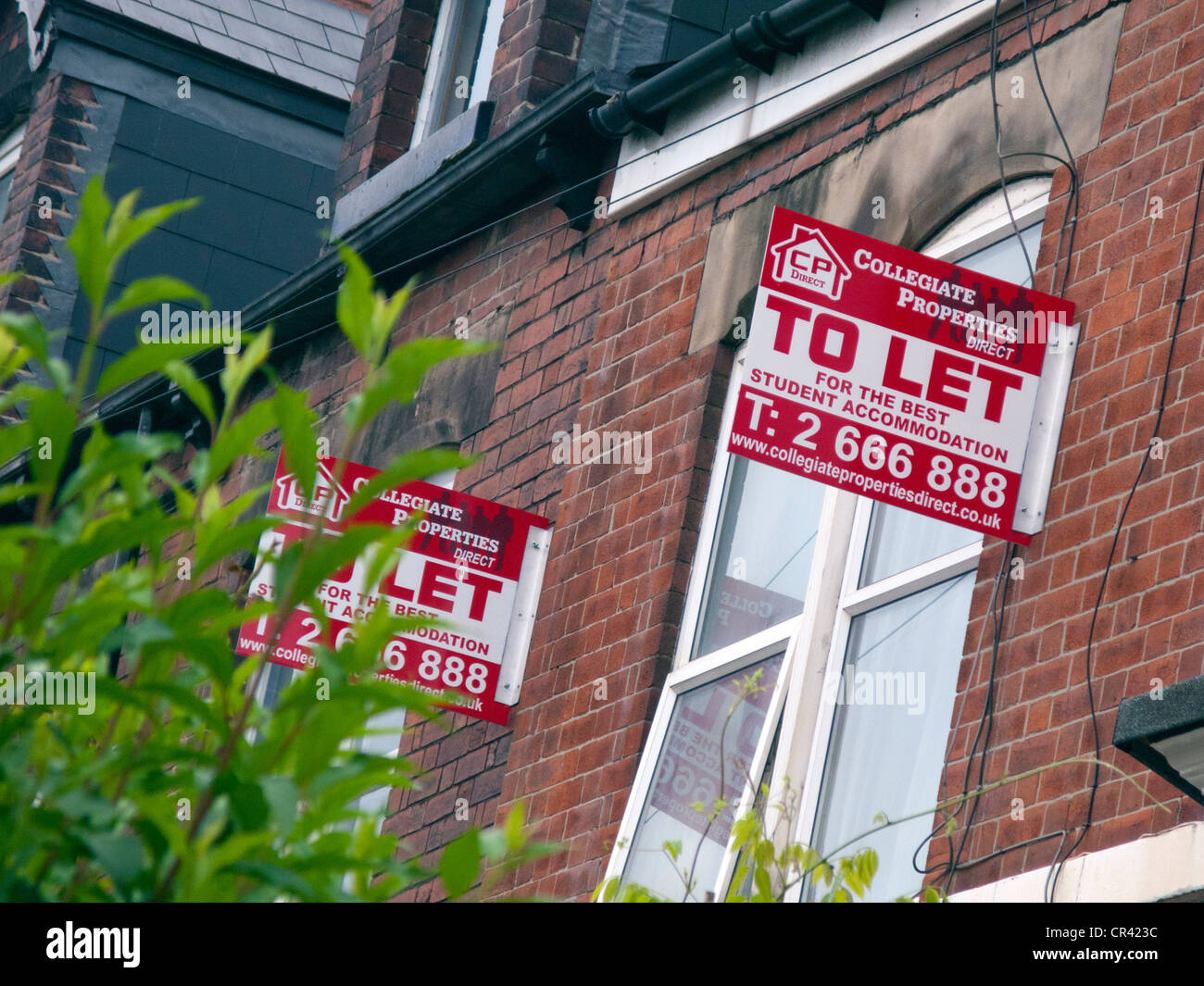 Student Accommodation to let - Stock Image