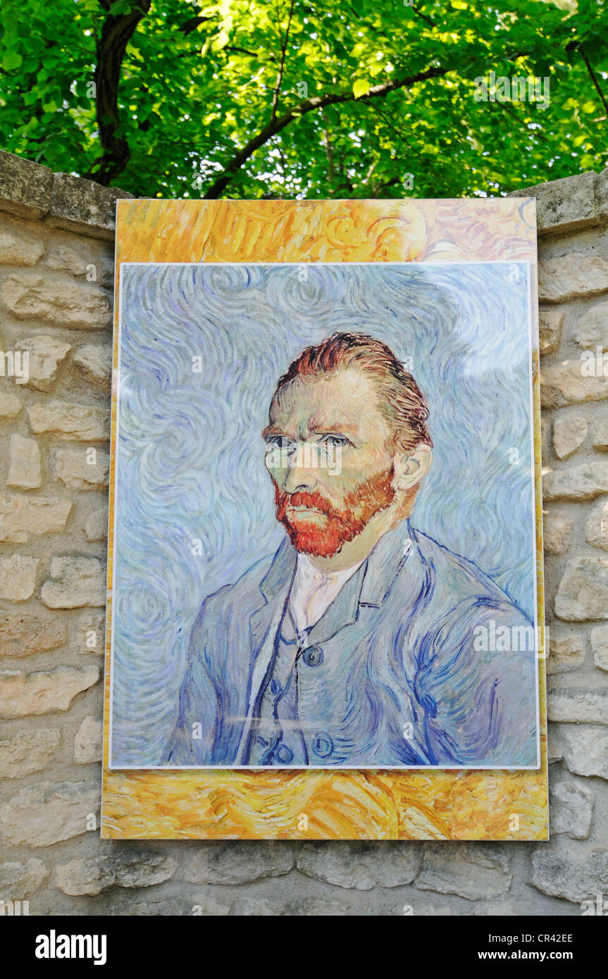 Self portrait of Vincent Van Gogh, Saint Paul de Mausole monastery, mental hospital, stay of Vincent Van Gogh, museum - Stock Image