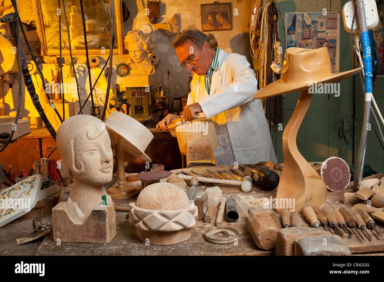 France, Paris, La Forme Workshop, Lucie Re, handicraft specialized ...