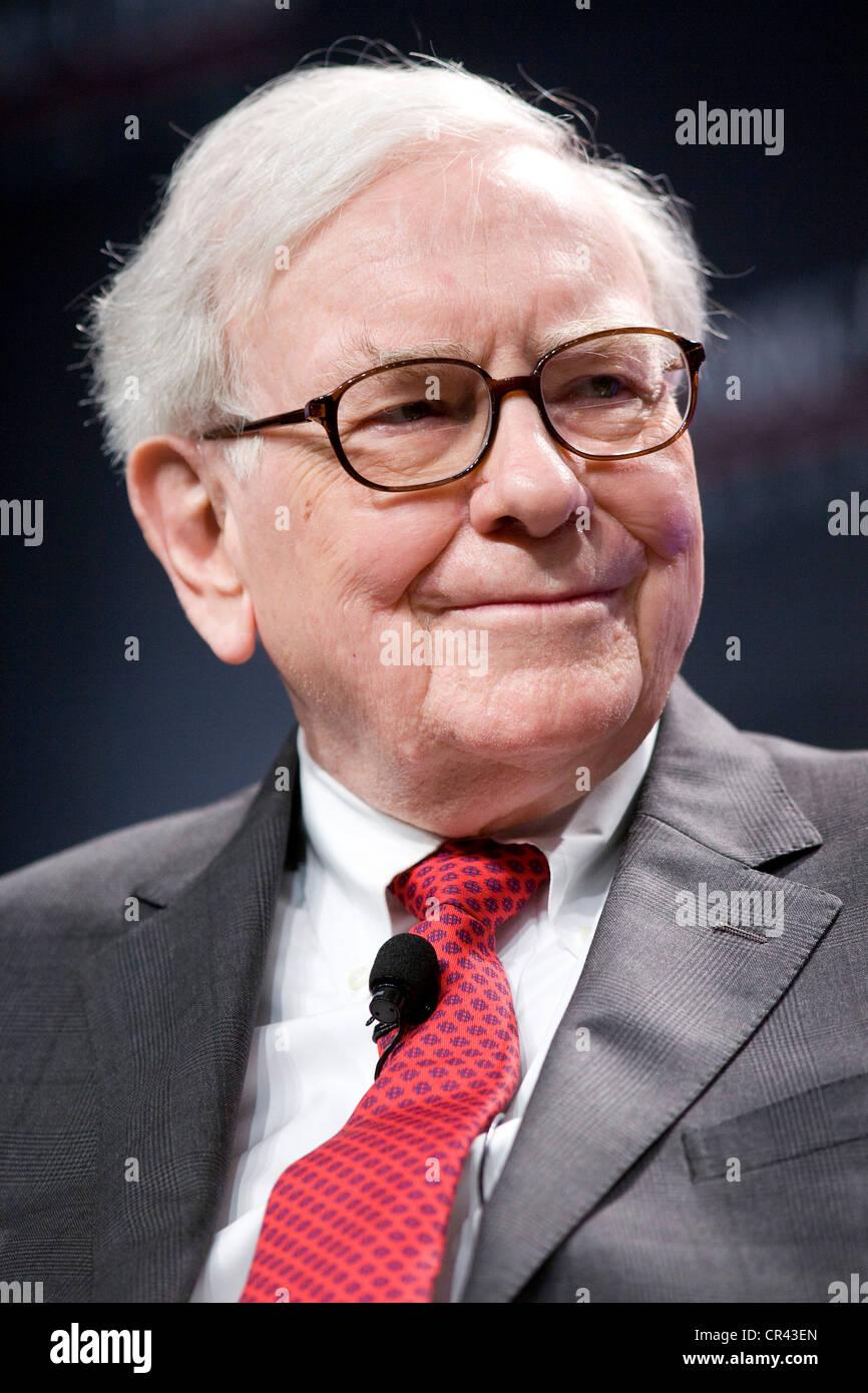 Warren Buffett, CEO of Berkshire Hathaway.  - Stock Image