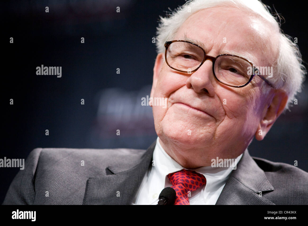 Warren Buffett, CEO of Berkshire Hathaway.  - Stock Image