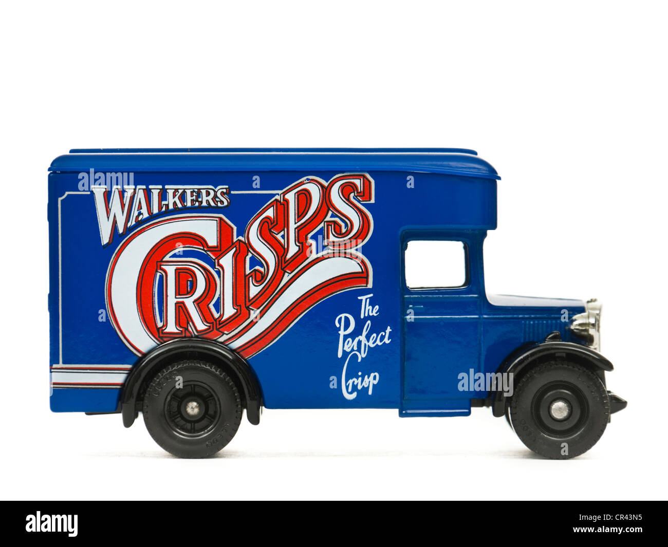 Walkers Crisps model delivery van by Lledo (part of Walkers Crisps promotional offer) - Stock Image