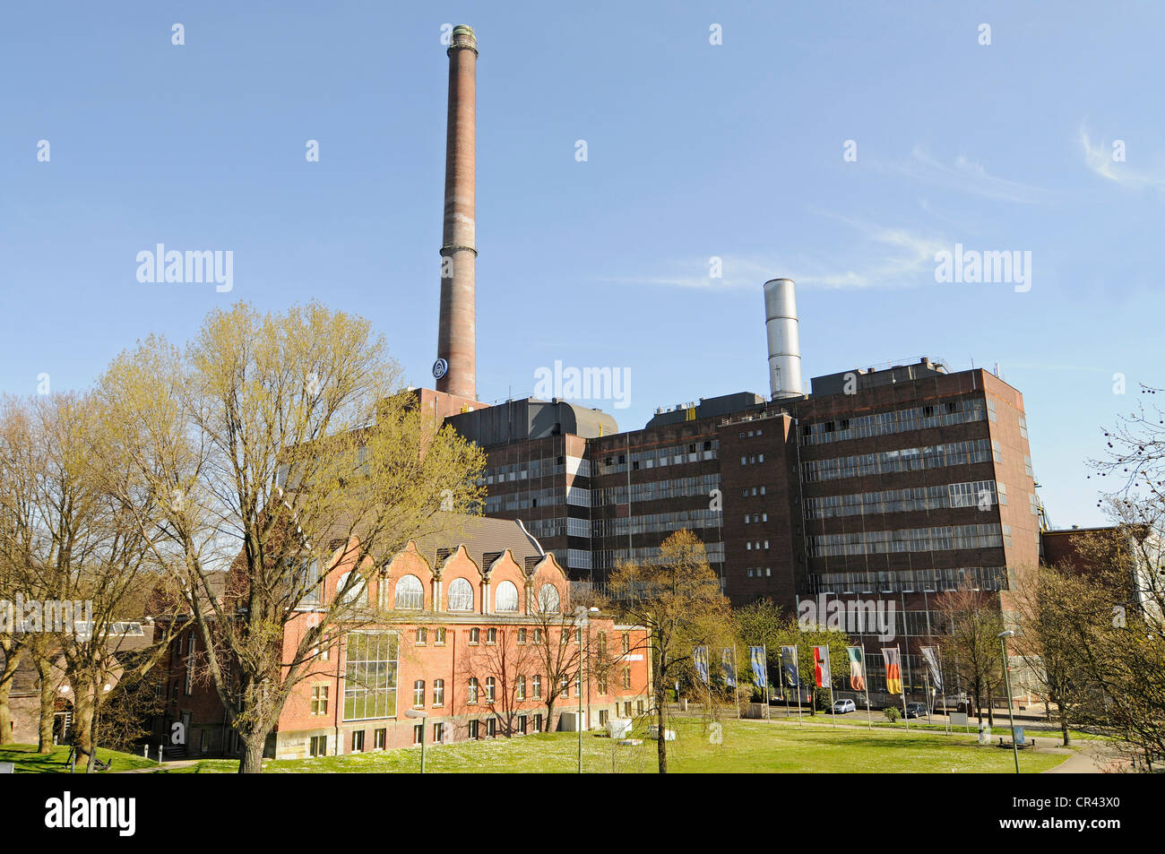 Museum of German Inland Navigation, Duisburg-Ruhrort, Duisburg, Ruhrgebiet region, North Rhine-Westphalia, Germany, - Stock Image