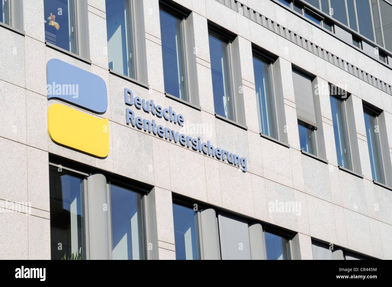 German pension insurance, Rhineland, Duisburg, Ruhrgebiet region, North Rhine-Westphalia, Germany, Europe Stock Photo