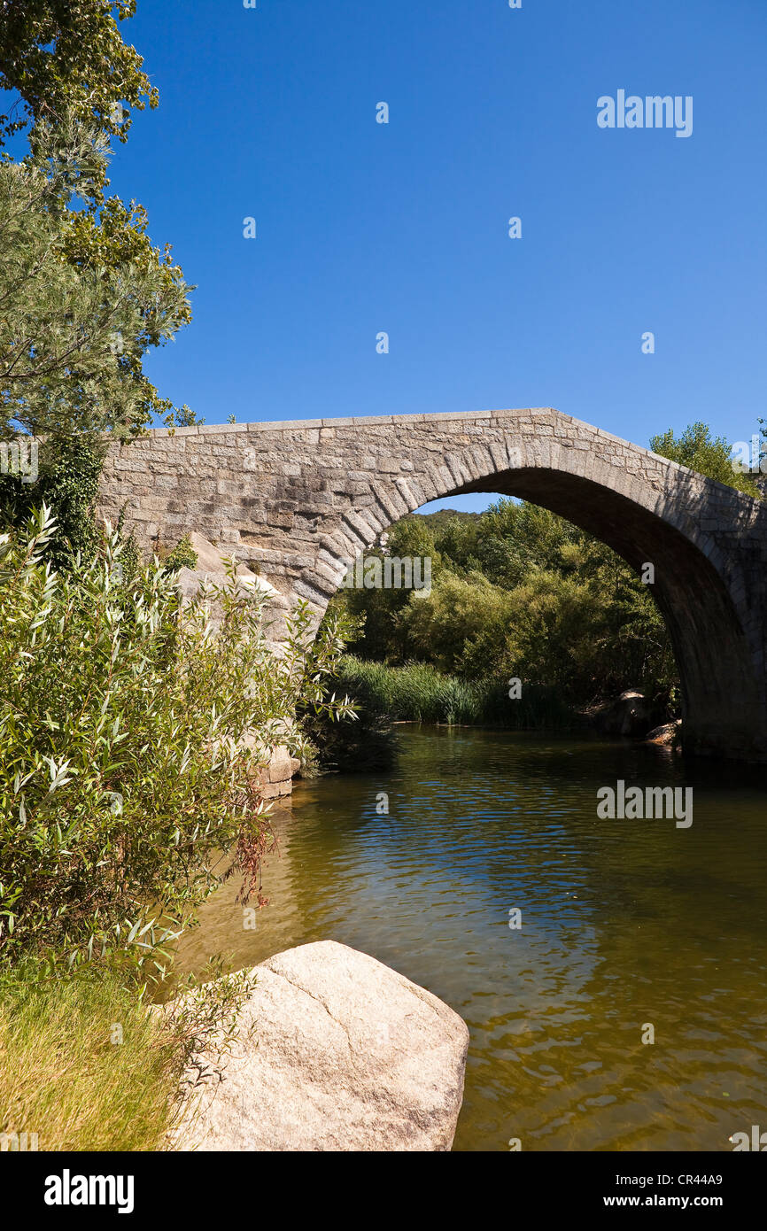 France, Corse du Sud, Spin a Cavallu bridge - Stock Image
