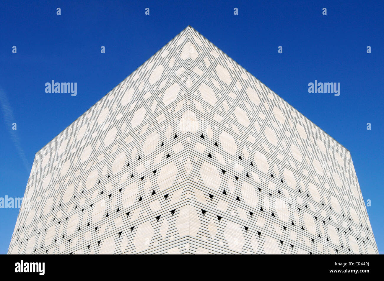 Stars of David, facade of the New Synagogue, Bochum, Ruhrgebiet area, North Rhine-Westphalia, Germany, Europe - Stock Image