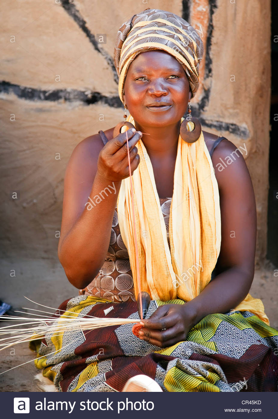 Woman Doing Handicraft Stock Photos Woman Doing Handicraft Stock