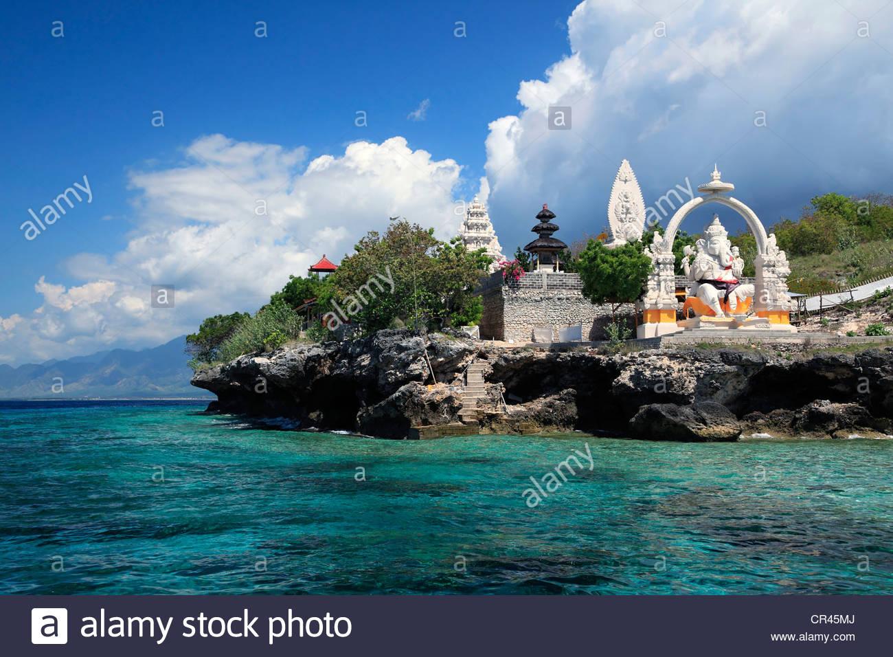 Temple by the sea, Menjangan, Bali, Indonesia, Southeast Asia, Asia - Stock Image