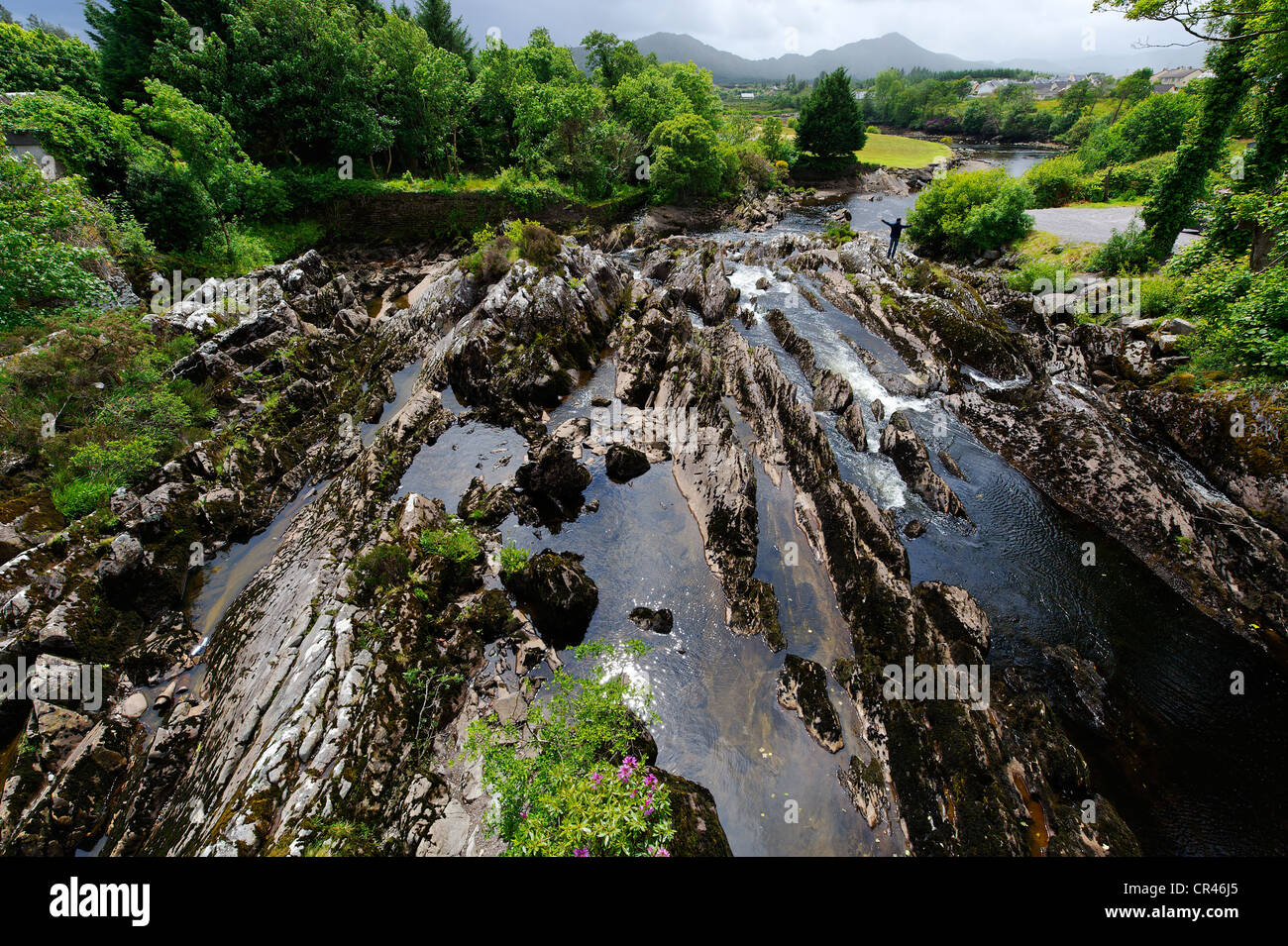 Sneem River, Sneem, Ring of Kerry, County Kerry, Ireland, Europe - Stock Image