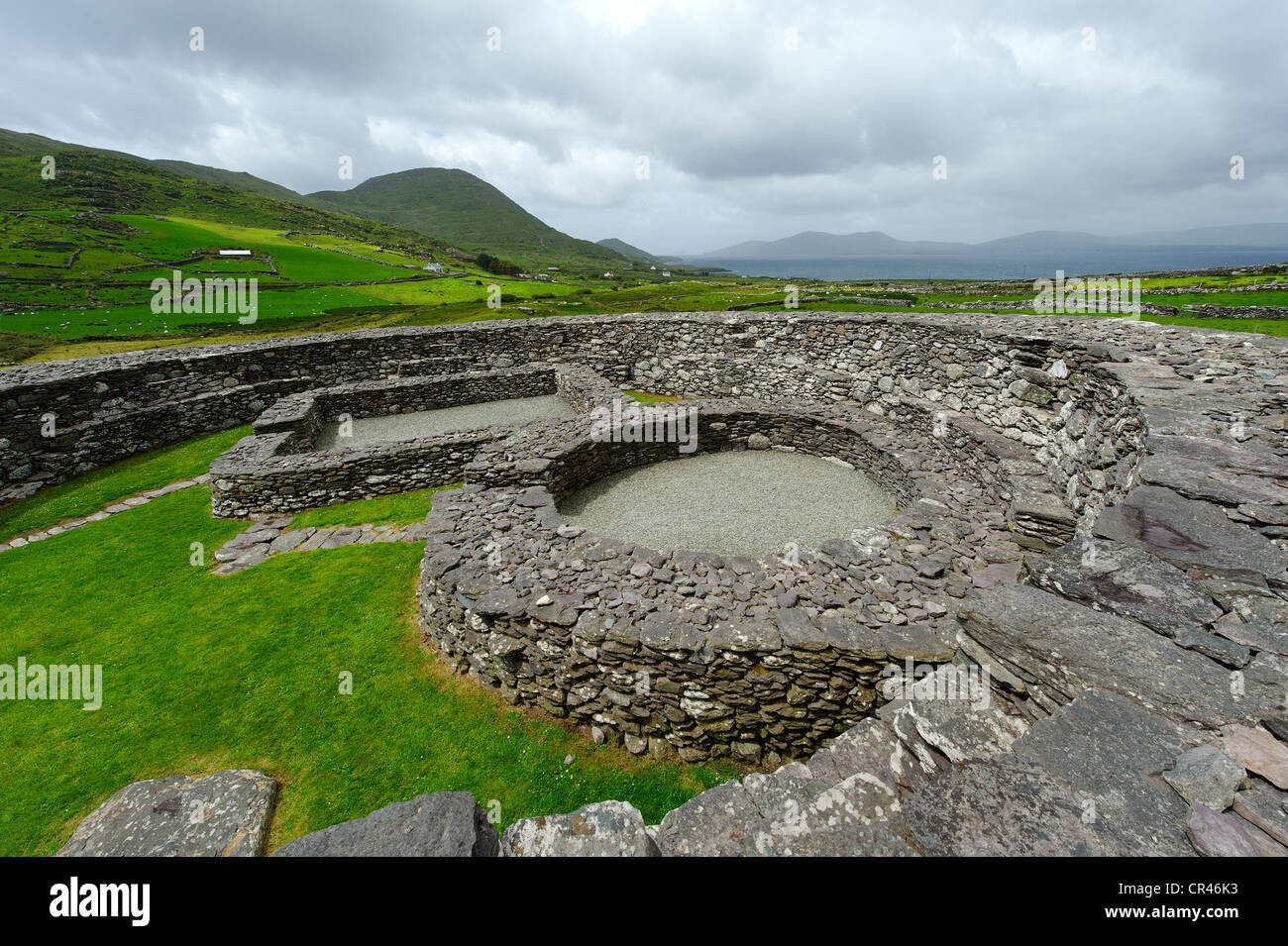 Lóthair Stone Fort, 9th Century AD, near Waterville, Ring of Kerry, County Kerry, Ireland, Europe - Stock Image