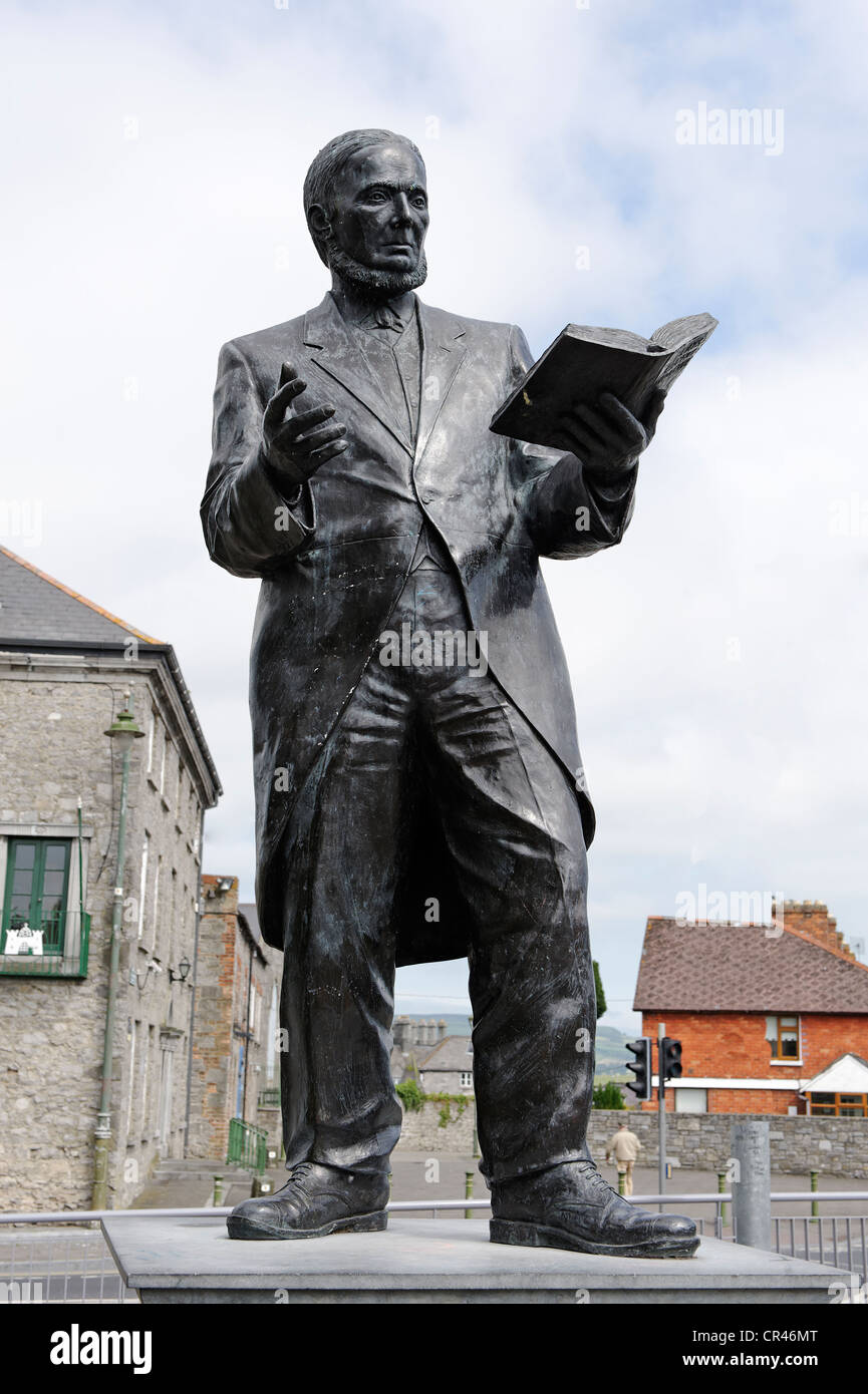 Memorial to Michael Hogan, bard singer, 1826-1899, Limerick, Ireland, Europe - Stock Image