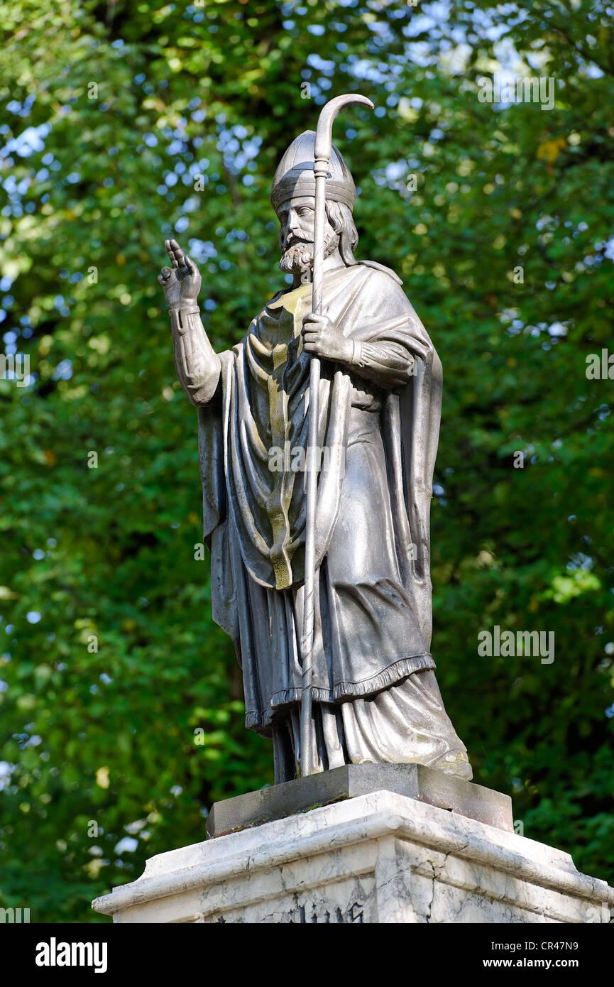 Saint Virgilius, court of the Alte Saline or old salt works, Bad Reichenhall, Upper Bavaria, Germany, Europe - Stock Image