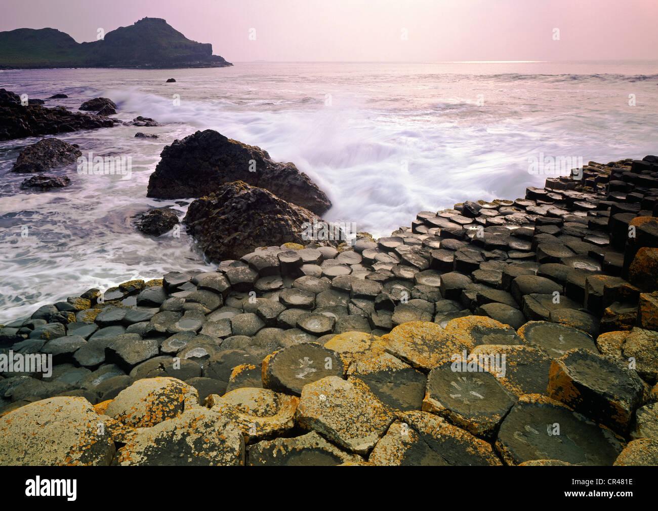Giant's Causeway, County Antrim, Northern Ireland, United Kingdom, Europe - Stock Image