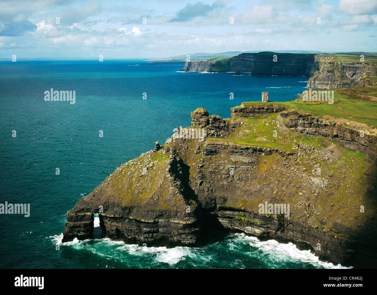 Cliffs of Moher, County Clare, Republic of Ireland, Europe - Stock Image