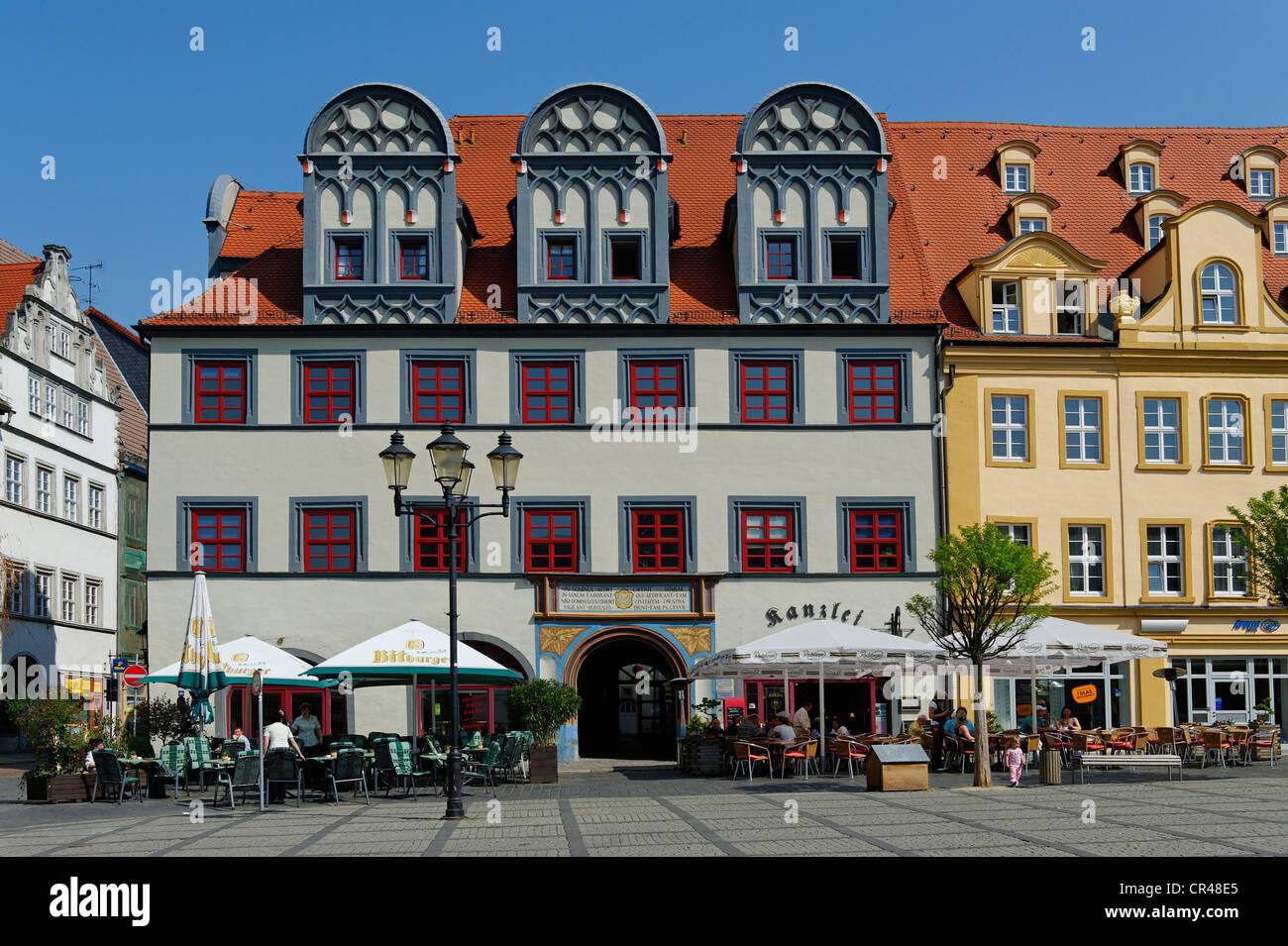 Market square, Naumburg, Saxony-Anhalt, Germany, Europe - Stock Image