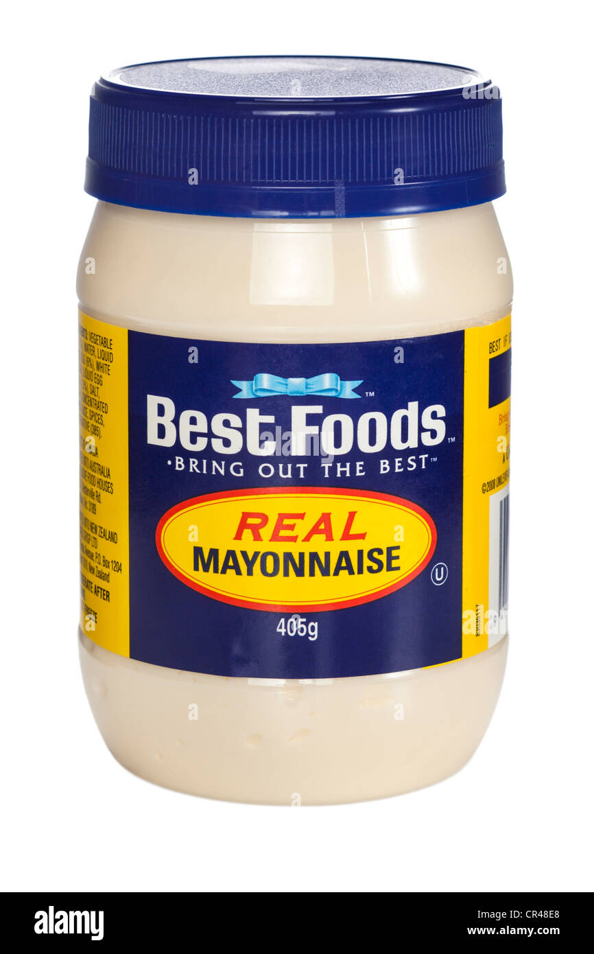 A 405g plastic jar of Best Foods Real Mayonnaise - Stock Image