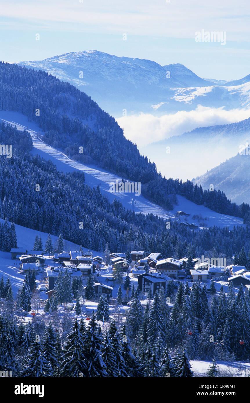 France, Haute Savoie, Les Gets - Stock Image