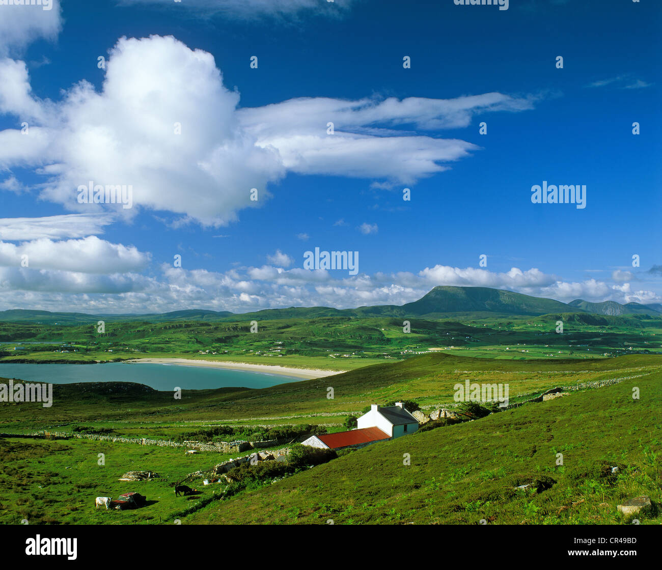 From Horn Head to Muckish Mountain, County Donegal, Republic of Ireland, Europe - Stock Image