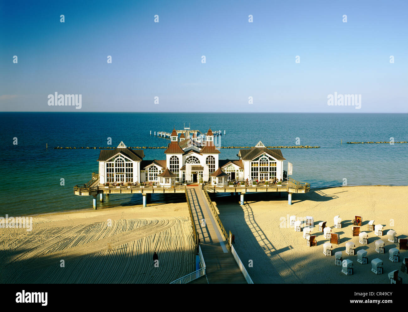 Pier, Sellin, Ruegen, Mecklenburg-Vorpommern, Germany, Europe - Stock Image
