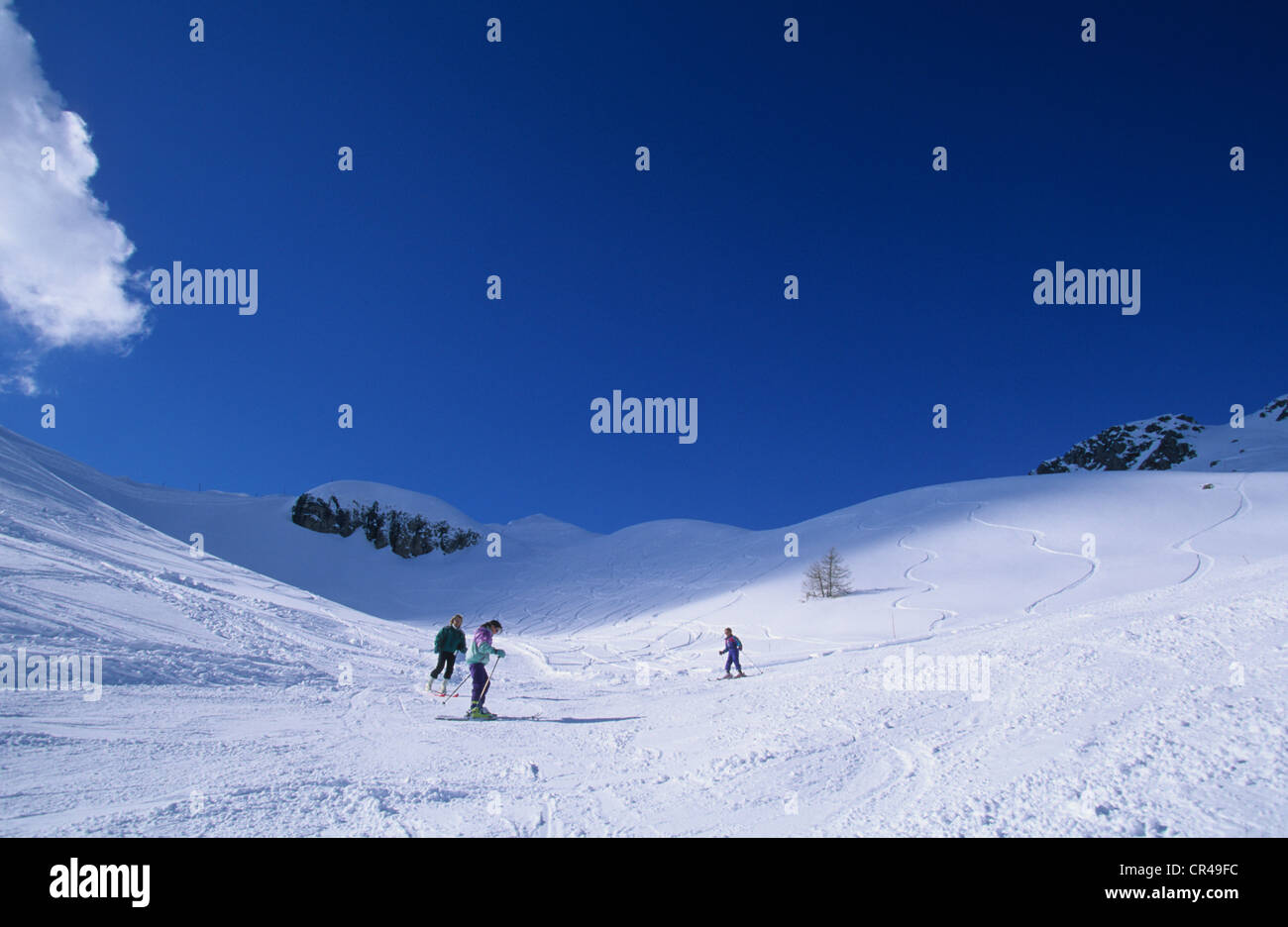 france, hautes alpes, reallon ski resort, nearby aiguilles de stock